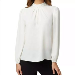 Tahari Silk Long Sleeve Blouse